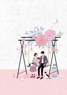47 Trendy ideas for nature girl cartoon Girl Cartoon, Cartoon Art, Couple Illustration, Illustration Art, Art Quotes Artists, Cute Couple Art, Nature Drawing, Korean Art, Anime Art Girl