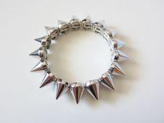 Silver Spike Bracelet. $20.00, via Etsy.