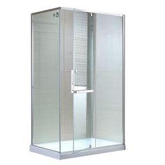 Glass Shower w/o base Shower Base, Glass Shower, Downstairs Bathroom, Bathroom Renos, Tudor House, My House, Lighthouse Bathroom, Beach Themes, Bathroom Medicine Cabinet