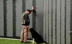 """The long-awaited memorial was a simple V-shaped black-granite wall inscribed with the names of the 57,939 Americans who died in the conflict, arranged in order of death, not rank, as was common in other memorials. The Vietnam Veterans Memorial soon became one of the most visited memorials in the nation's capital. A Smithsonian Institution director called it """"a community of feelings, almost a sacred precinct."""" Today and this weekend, we remember all those who served during the Vietnam War."""