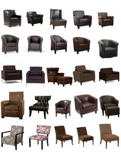 Brown Upholstered Chairs and Slipcovers www.UpholsterEase.com