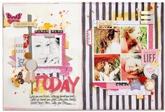 """Great blog post chatting about the theory behind this #layout over at @getitscrapped. """"5 Liftable #Scrapbook Page Ideas from a Layout by Kim Watson"""""""