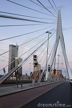 Erasmus bridge in Rotterdam, Holland, Netherlands.