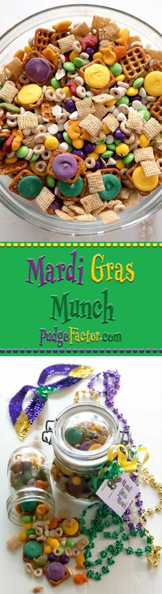 Mardi Gras Munch - the perfect combination of sweet, salty and crunchy. via @c2king