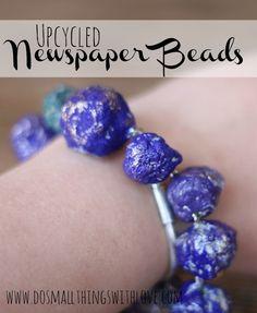 Newspaper Beads Tutorial