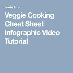 Veggie Cooking Cheat Sheet Infographic Video Tutorial