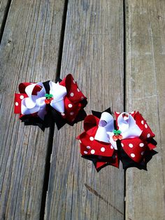 Cherry Boutique Bow. 2 for 10.00 by CraftyMamaHairBows on Etsy, $6.00