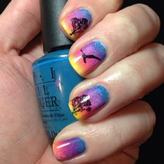 Sunset gradient nails by Sweet Sugar Nails
