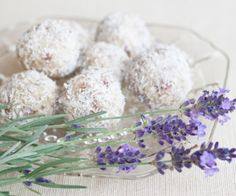 These apricot-lavender-almond bites have bursts of sweetness from dried apricots. The lavender is subtle and makes the bites just a little elegant.