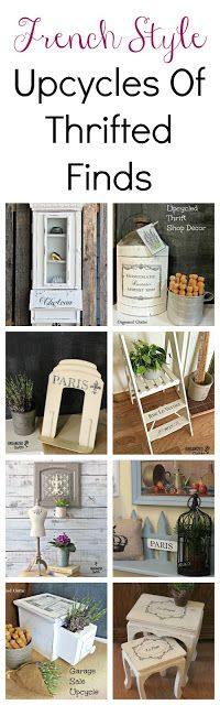 Roundup Of Thrifted Purchases Upcycled With French Style Home Decor