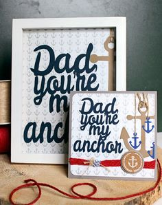 Father's Day Card, Gift, and Free Silhouette Cut Files