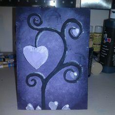 Heart Flower - Acrylic Painting