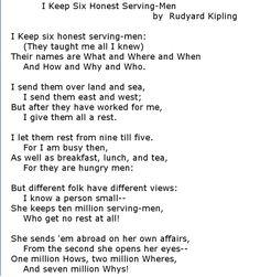 Rudyard Kipling - I keep six honest serving-men