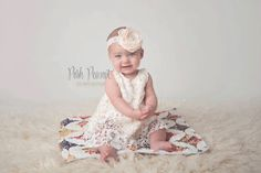 Vintage inspired Lace swing set Cream underlay with crochet daisy pattern overlay, ties in back with matching sating bow. Swing set comes with