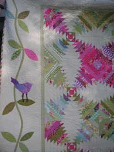 Pretty Colors-Detail of Niko Pineapple Quilt by Mary Westin Pineapple Quilt Pattern, Pineapple Quilt Block, Quilting Projects, Quilting Designs, Quilting Ideas, Quilt Boarders, Quilt Blocks, Scrappy Quilts, Strip Quilts