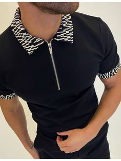 Slim Fit Polo Shirts, Shirt Style, Craftsman, Men Casual, Black, Latest Fashion, Classy, Products, Black Polo T Shirt