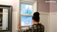 How to make a DIY privacy window screen - Test fit your window screen frame. Window Privacy Screen, Window Screen Frame, Bathroom Window Privacy, Bathroom Windows, Bathroom Curtains, Redo Bathroom, Privacy Screens, Bathrooms, Diy Window Shades