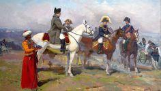 Napoléon en regardant la bataille   Sergey Troshin