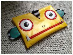 Mimis Lovables #mimislovables ♥ - monster pencil case #upcycling Federmäppchen