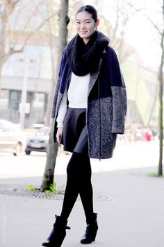 black ankle boot outfit - Google Search