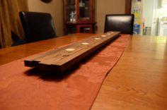 Long tea light holder for table or mantle. by LKWoodenthings, $65.00