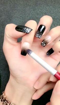 Pink Nail Art, Gel Nail Art, Gel Nails, Acrylic Nails, Manicure, Black Nail Designs, Simple Nail Designs, Nail Art Designs, Cute Summer Nails