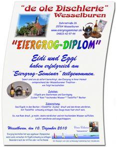Das Eiergrog-Diplom Wessel