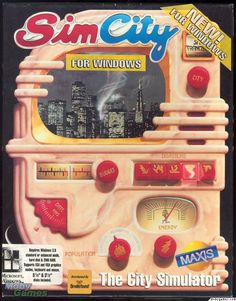 Box art of the original Sim City by Maxis / Will Wright.