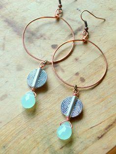 African Copper Hoop Earrings  African Tribal Trade by stoneandbone, $30.00