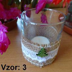 Sklenený svietnik Jarko - Sviečka - S čajovou sviečkou (plus 0,10€), Vzor - Vzor 3