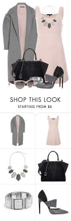 """""""Blush Dress & Oversized Coat"""" by brendariley-1 ❤ liked on Polyvore featuring Mother of Pearl, Gucci, Erica Lyons, Fendi, GUESS, Calvin Klein and Tod's"""