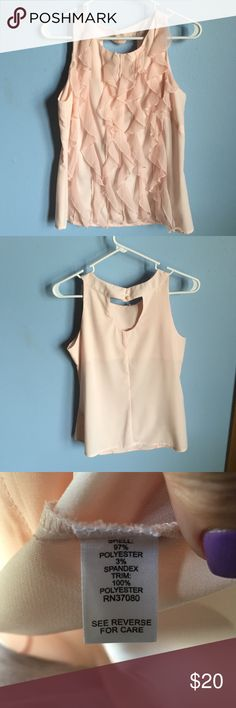 🎀 Pink Blouse 🎀 No snags. Has ruffle design on the front. Keyhole opening in the back Cato Tops Blouses