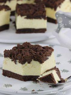 Sernik królewski.  Royal Cheesecake. Royal Cheesecake Recipe, Cheesecake Recipes, Dessert Recipes, Kolaci I Torte, Polish Recipes, Russian Recipes, Pavlova, Baking Tips, Tiramisu