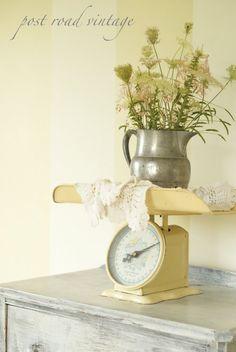 Vintage Nursery Inspiration. Grandma keeps offering me her baby scale