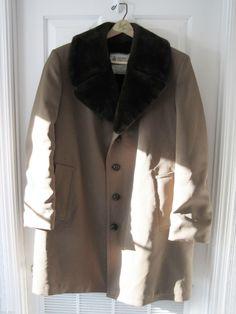 LONDON FOG Mens Fully Fur Lined Long Winter Coat/ Jacket Sz 42