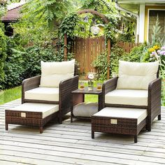 Patio furniture will extend your fun and relaxation time to your outside space. Within the key pieces, you can find for a patio, patio chairs are the number one and essential to have. Even if you don't have a table, a patio chair will always allow you to chill and enjoy the sun outdoors. And maybe invite some company over to sit down and talk. Diy Garden Furniture, Wicker Patio Furniture, Patio Chairs, Outdoor Chairs, Outdoor Furniture Sets, Screened Porch Furniture, Wayfair Patio Furniture, Target Patio Furniture, Outdoor Decor