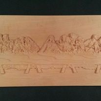 "last supper 11"" x 24"" x 1"" hard white maple finished with 2 coats linseed oil"