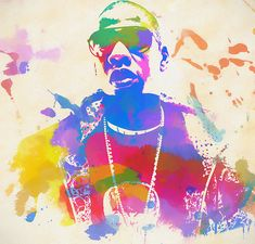 Jay Z Watercolor Art Print by Dan Sproul. All prints are professionally printed, packaged, and shipped within 3 - 4 business days. Watercolor Images, Watercolor Paintings, Thing 1, Colored Highlights, Jay Z, Us Images, Record Producer, Artist At Work, Giclee Print