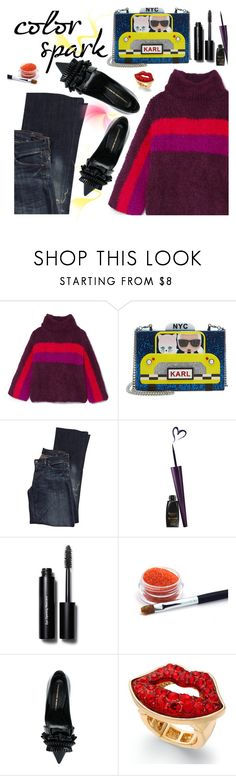 """""""Karl Lagerfeld"""" by juliehooper ❤ liked on Polyvore featuring Rosie Assoulin, Karl Lagerfeld, Citizens of Humanity, Bobbi Brown Cosmetics, Ermanno Scervino, Thalia Sodi, armcandy, polyvoreeditorial and statementbags"""