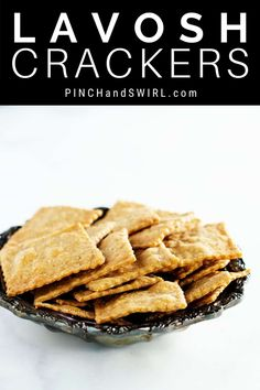 You'll never go back to store bought Lavosh Crackers once you've made this easy recipe! Just a few simple ingredients for delicious, snappy crisp crackers! Single Serve Desserts, Desserts For A Crowd, Great Desserts, Delicious Desserts, Hot Fudge Cake, Hot Chocolate Fudge, Trifle Desserts, Party Desserts, Party Snacks