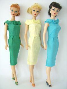 Silk sheath fashions  The Fashions of 1962 - Barbie Teenage Fashion Model