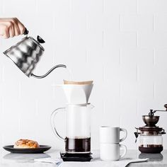 Pour-Over Coffee The pour-over method is a manual way to make drip coffee. How To Make Coffee, Coffee Love, Coffee Art, Coffee Shop, Coffee Maker, Coffee Study, Coffee Break, Hand Drip Coffee, Pour Over Coffee