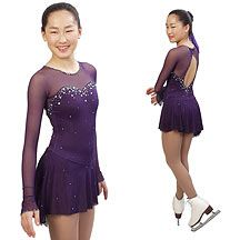 Tania Bass Figure Skating Dress.  Sasha Dress  Stunning dress beaded with multi-colored Swarovski crystals.