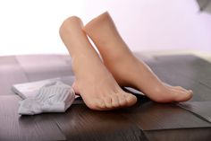178.50$  Buy here - http://alioga.worldwells.pw/go.php?t=32675600765 - 26cm male(boys) Silicone Fake Foot,Inner-Bone Inside,Toe Move Freely,Feet Model,Shoe Model