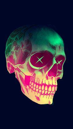 Art Skull iPhone Wallpaper - iPhone Wallpapers