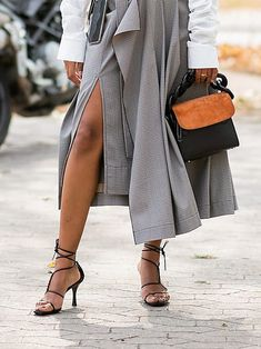 Minimalist strappy sandals make a versatile investment. We love these heels with everything from dresses to tailoring. Spring Sandals, Summer Shoes, Strappy Sandals Outfit, Dresses For Less, Elegant Woman, Cool Style, Pairs, Clothes For Women, How To Wear