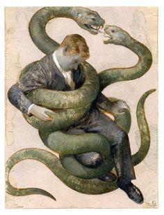 Gérard DuBois Illustration for the National Labor Federation 2015 Calendar Art Inspo, Inspiration Art, Art Et Illustration, Illustrations, Snake Art, Art Vintage, Wow Art, Art Design, Aesthetic Art