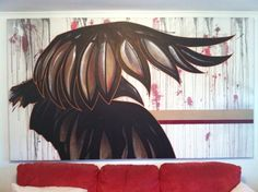 250x140. Flying Crow  #crow #art #canvas #mixedmedia