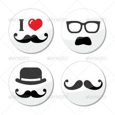 Buy I love mustache / moustache icons set by RedKoala on GraphicRiver. Moustache with hat or glasses labels set FEATURES: Vector Shapes All groups have names All elements are easy to . Moustache, Mustache Wax, Stencil Diy, Stencils, Cool Mustaches, Print Fonts, Girl Sketch, Vector Shapes, Icon Font
