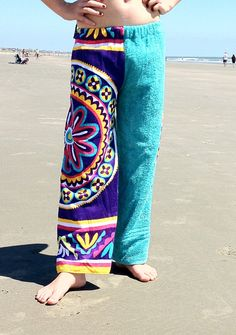 89af43e8bc Tropic Purple and Blue Towel Pants by DrylandApparel on Etsy, $37.50